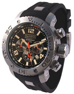 BARBOS  STINGRAY  CHRONOGRAPH  3300ft/1000m  MENS  DIVER  WATCH NEW.