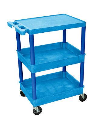 Luxor Flat Top And Tub Middlebottom Shelf Cart Bustc211bu New
