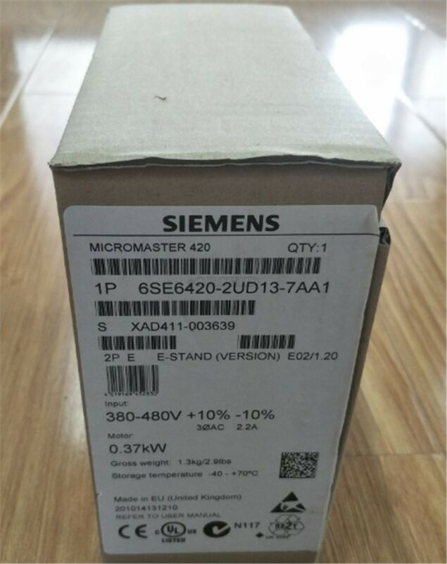 Siemens 6se6420-2ud13-7aa1 New-Micromaster 420; 0,37kw