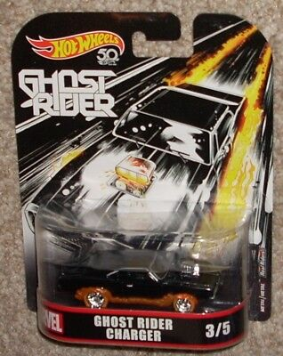 2018 Hot Wheels Marvel Ghost Rider Charger Black #3 50th MOC Real Riders