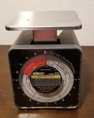 Pelouze Postage Scale Model K5 5 Pound Capacity 2002 Usps Rates Pelstar