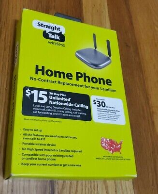 Straight Talk Prepaid Wireless Home Phone Base Station by Moxee - New