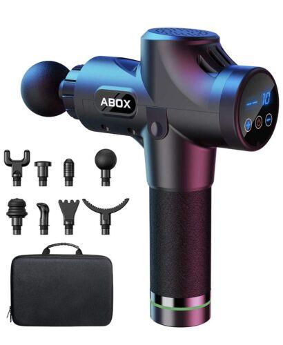 ABOX Massagepistole für Nacken Schulter Rücken Massage Gun Massagegerät El