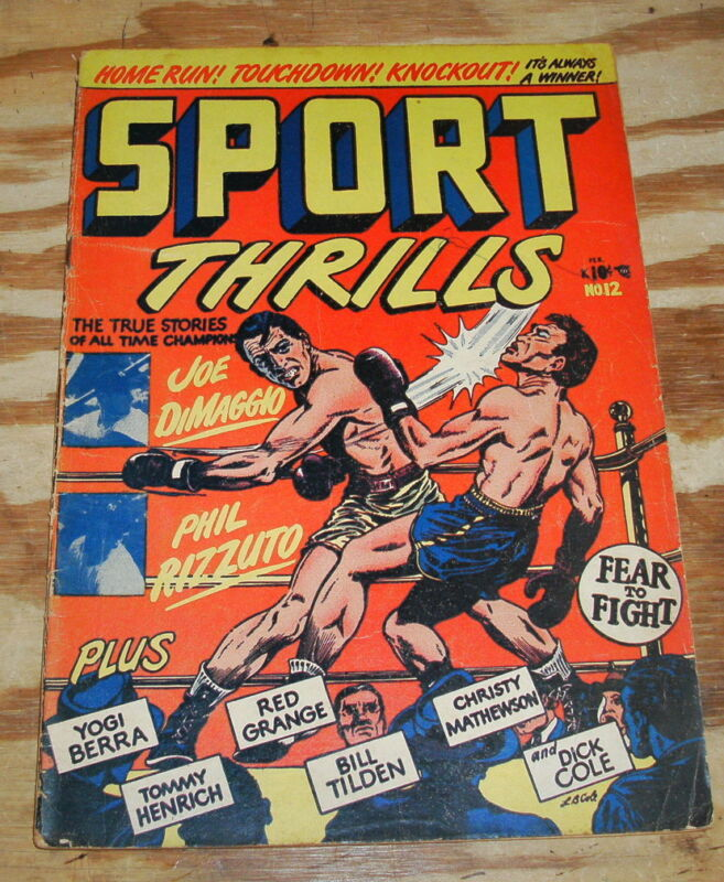 Sport Thrills #12 very good plus 4.5