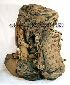 GEN-2-USMC-MARPAT-ILBE-ArcTeryx-MAIN-PACK-w-Straps-Belt-Lid-ASSAULT-PACK-GOOD