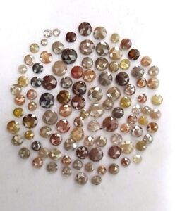 Natural Loose Diamond Rose Cut Mix Color 2.00 to 5.00 MM 1 TCW Scoop Low Price