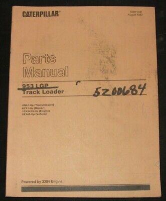 Cat Caterpillar 953 Lgp Track Loader Parts Book Manual Sn 5z345-up