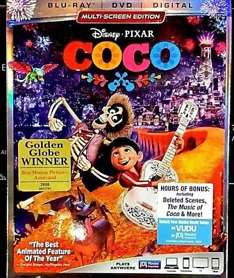 Coco W Slipcover  Blu Ray  Dvd  2018  Includes Digital Copy
