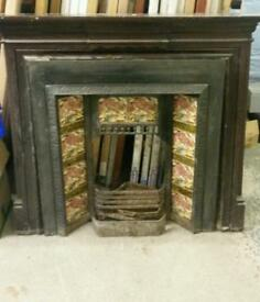 Tiled fire surround