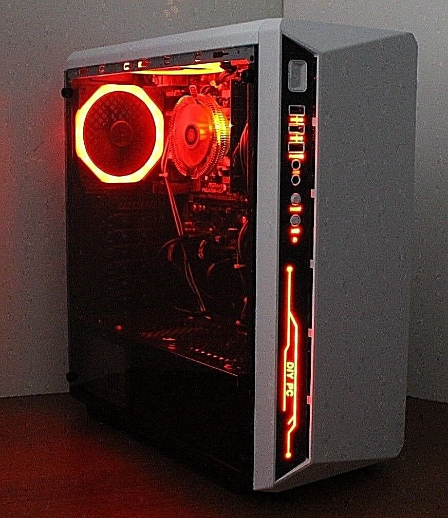 NEW RGB Quad Core Gaming PC Desktop Computer 3.7 GHz 500 8GB