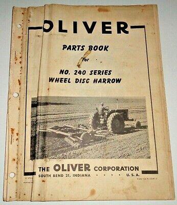Oliver 240 Series Wheel Disc Harrow Parts Catalog Manual Book Original Disk
