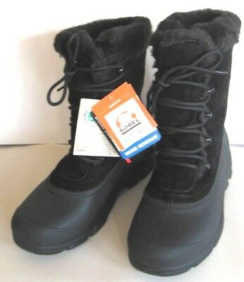 Snowbird Water (Sorel Winter Boots Snow Bird Water Resistant Suede Women's 10 Black New w tags)
