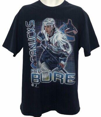 Vintage 90's Pro Player Pavel Bure Vancouver Canucks 100% Cotton Mens T-Shirt XL Vancouver Canucks T-shirts