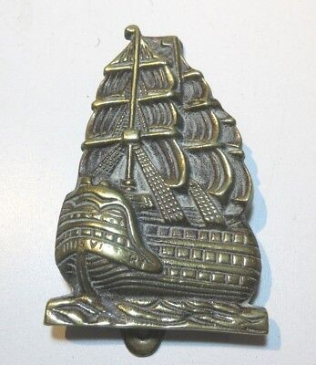 ANTIQUE  BRASS DOOR KNOCKER HMS VICTORY  1910'S