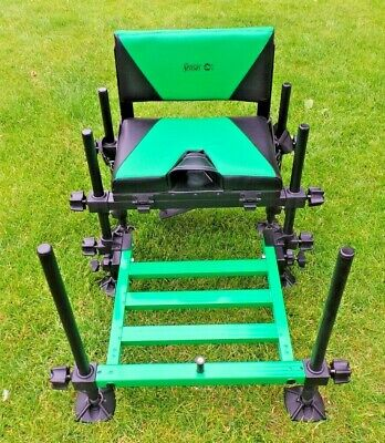 lightweight sensas canal style seatbox with back rest & footplate BRAND NEW