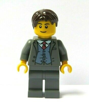 Lego Minifigure Dark Grey Suit Red Tie Groom Best Man Wedding Office
