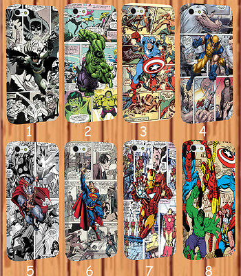 Wrapped Marvel Superhero Captain America Comics for iPhone And Samsung Case