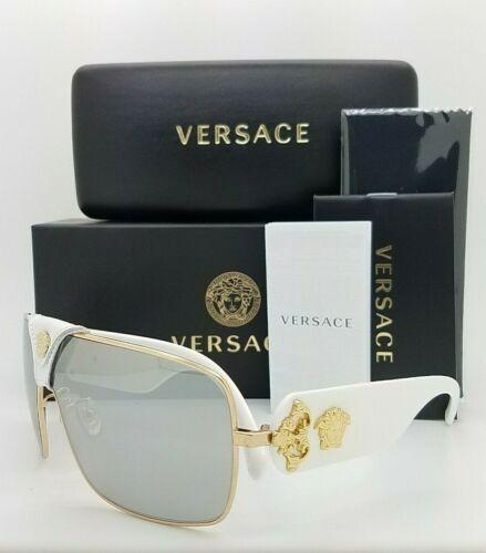 NEW Versace sunglasses BAROQUE VE2207QA 10026G Grey Silver Mirror AUTHENTIC 2207