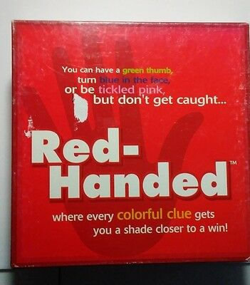 Red-Handed Colorful Teen/Adult Party Board Game Fun For Everyone