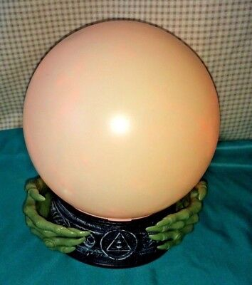 Halloween Color Changing Witches Orb Crystal Ball Talking Creepy Hands   - Halloween Eyeball Orbs