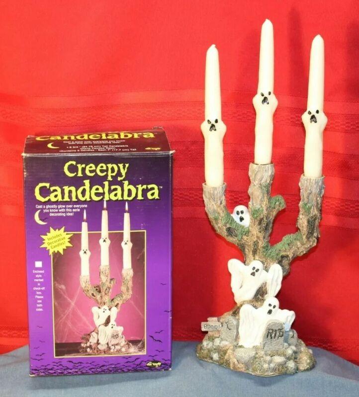 Creepy Candelabra Fun World Spooky Ghosts Halloween decorations displays