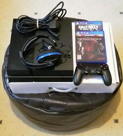 *REDUCED* PS4 with controller, 2 games and headset