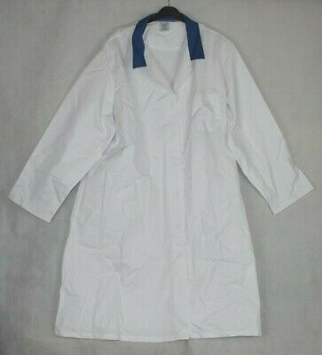 Alexandra Mens Lab Coat White with blue collar Size 4XL