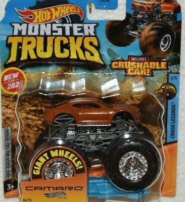 Hot Wheels - 2020 Monster Trucks Crash Legends 2/5 '18 Camaro SS 14/75 (BBGJD78)