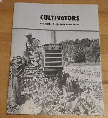 Ih Mccormick Farmall Cub 140 1 Row Corn Cotton Tobacco Cultivator Brochure Sa
