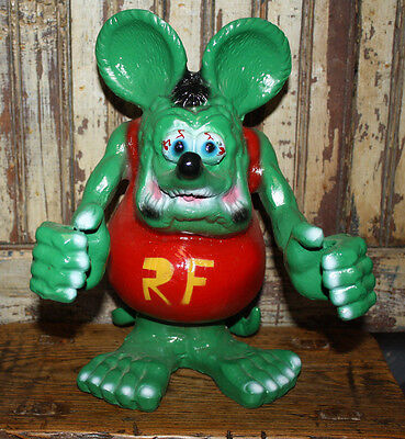 RAT FINK 1' CAST ALUMINUM Statue Mobile Texaco Gulf Gas & Oil Garage Hot Rod.