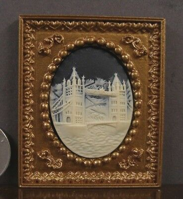 FRAMED  3D  CAMEO  PICTURE ~ London Bridge ~ Dollhouse  ~ 1:12 scale ~ Room Box for sale  Saint Louis