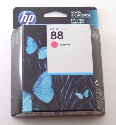 (Genuine HP OfficeJet 88 Model C9387AN Magenta Ink Cartridge New Exp 2015)