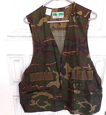 df347bb684f1c Men's Game Winner Sportswear Camouflage Camo Hunting Gamebag Vest XL 46-48  LN