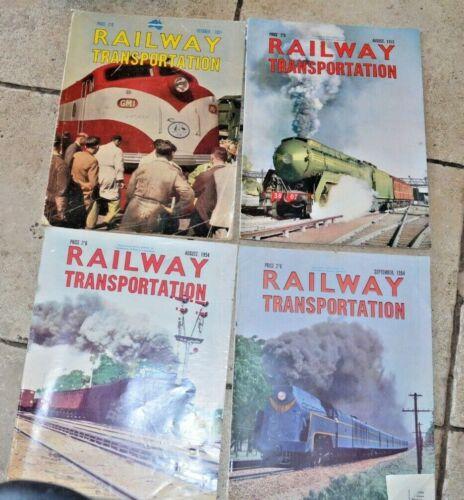 Railway Transportation Magazine 1951-1955 8 magazines