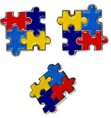 3 Pack Autism Awareness Puzzle Pieces Lapel Hat Pins Raise Awareness 7303](Blue Puzzle Piece Lapel Pin)