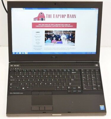 Dell Precision M4800 Laptop - 2.8 GHz i7-4810MQ 8GB 256GB SSD FirePro M5100 SP2