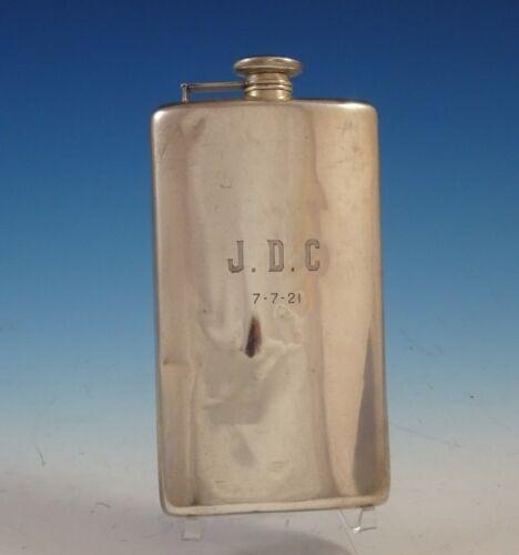 "Meriden Britannia Co Sterling Silver Flask with Mono ""J.D.C"" 8"" x 4 1/2"" (#2460)"