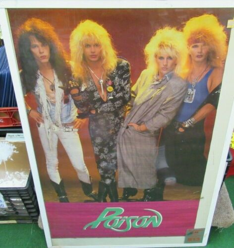 POISON POSTER NEW 1987 RARE VINTAGE COLLECTIBLE OOP