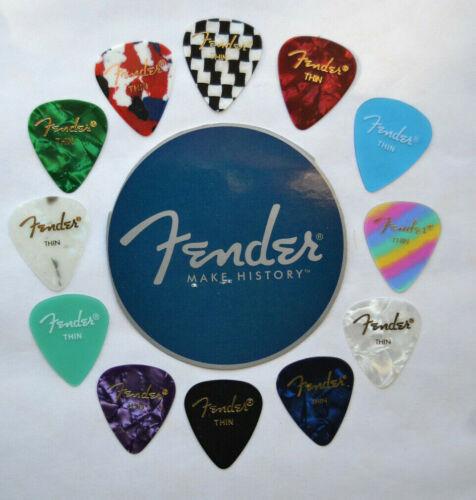 FENDER THIN GUITAR PICKS ASSORTED 12