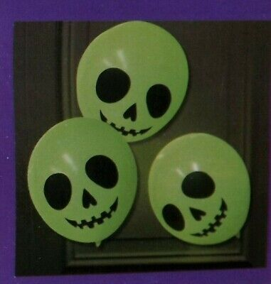 Ghost Latex Balloons with Glow Sticks Light Up Halloween Party Decoration 6/Pack