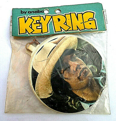 Rare Vintage Anabas MICK JAGGER Rolling Stones Key Ring 1976 New Old Stock