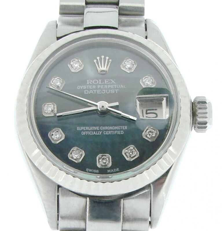 Rolex Datejust Ladies Stainless Steel Watch President Style Bracelet Mop Diamond
