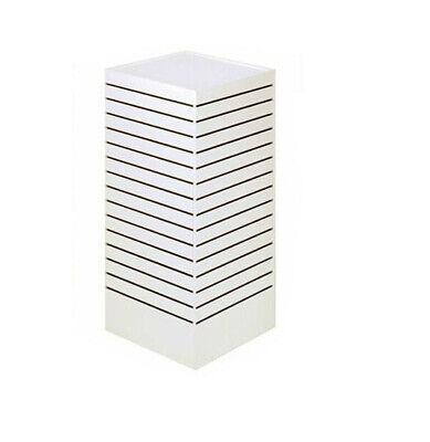 White - 24l X 24w X 54h Slatwall Tower Unit Retail Store Display Fixture