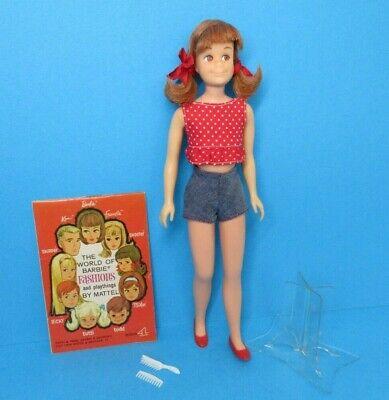 Vintage Barbie SKOOTER Doll Bend Leg - Pink Tone - Redhead Red Hair + Extras