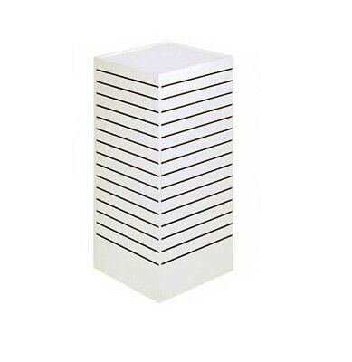 Slatwall Tower Unit Retail Store Display Fixture 24 X 24 X 54 - White