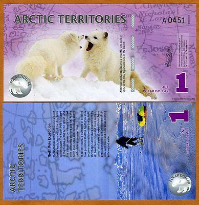 Arctic Territories, $1, 2012, Polymer, UNC > Arctic Fox