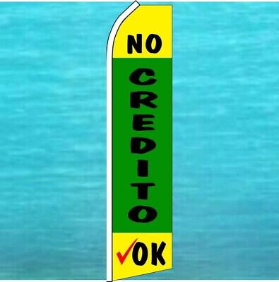 No Credito Ok Wind Flutter Flag Tall Used Cars Advertising Sign Swooper Banner