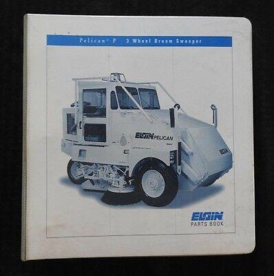 1998 Elgin Pelican Series P Street Sweeper Broom Parts Catalog Manual Wbinder