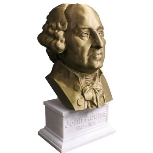 John Adams 12 inch 3D Printed Bust US President #2 Art FREE SHIPPING