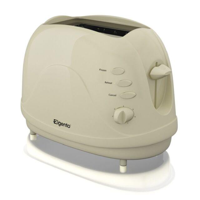 Elgento E20012C Slice Toaster 2 Slice in Cream - Brand New Uk Stock